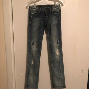 Rerock for Express Straight Leg Distressed Jean